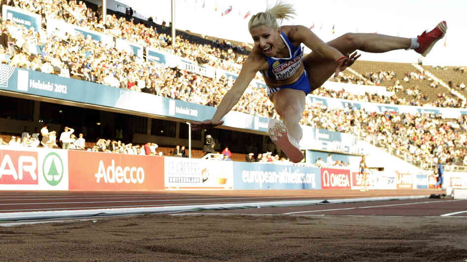 Triple jumper Voula Papachristou, seen competing in Finland last month, has been removed from Greece's London Olympics squad over comments made on Twitter.