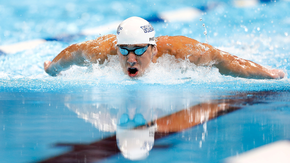 Endurance athletes like Michael Phelps, here at the 2012 U.S. Olympic Swimming Team Trials in Omaha, can easily burn off stacks of pancakes. (Getty Images)