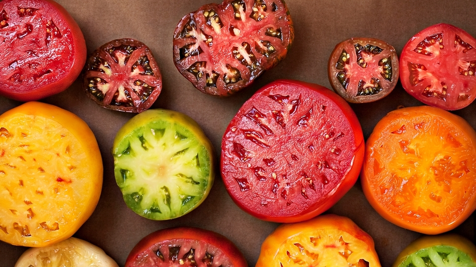 Chef Cassy Vires uses heirloom tomatoes like these in her tomato terrine. (iStockphoto.com)