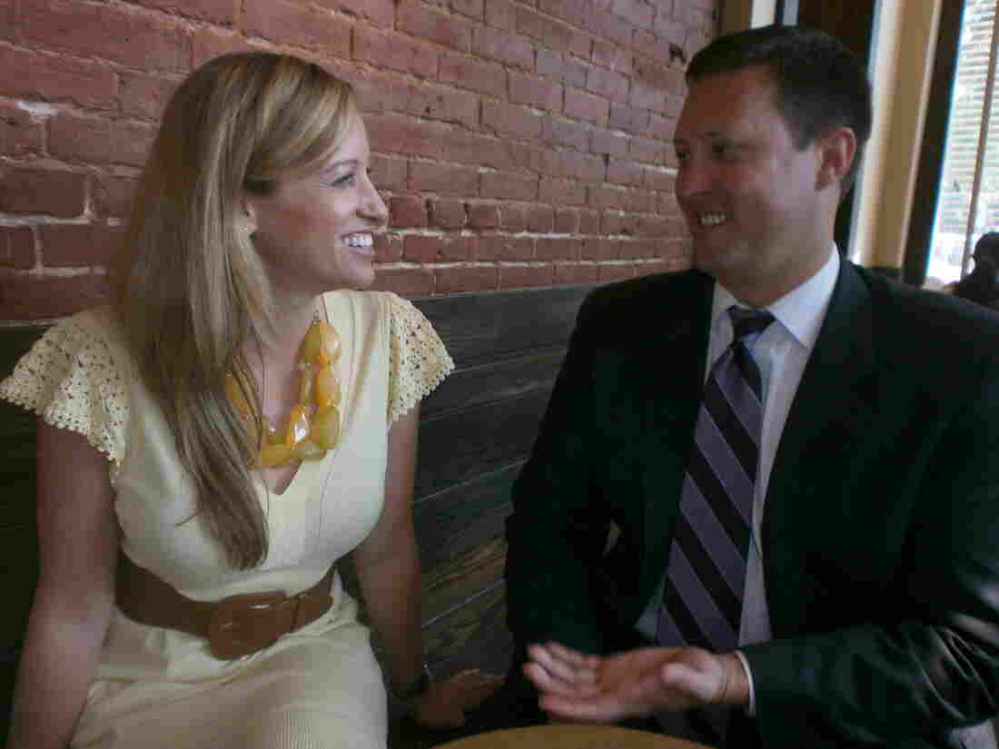Jessica Grounds and Wes McClelland say their Christian faith helps ease the tension of their disparate professional identities.