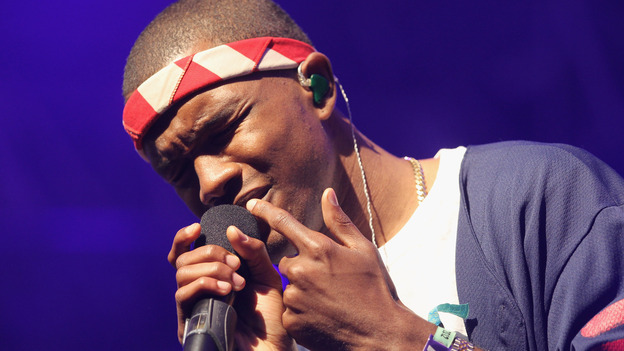 Frank Ocean performs onstage at the 2012 Coachella Valley Music & Arts Festival in April. (Getty Images)