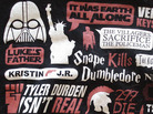 A T-shirt with many of the most infamous spoilers from movies, books and TV. A new study suggests that spoilers actually increase our enjoyment rather than ruin it.