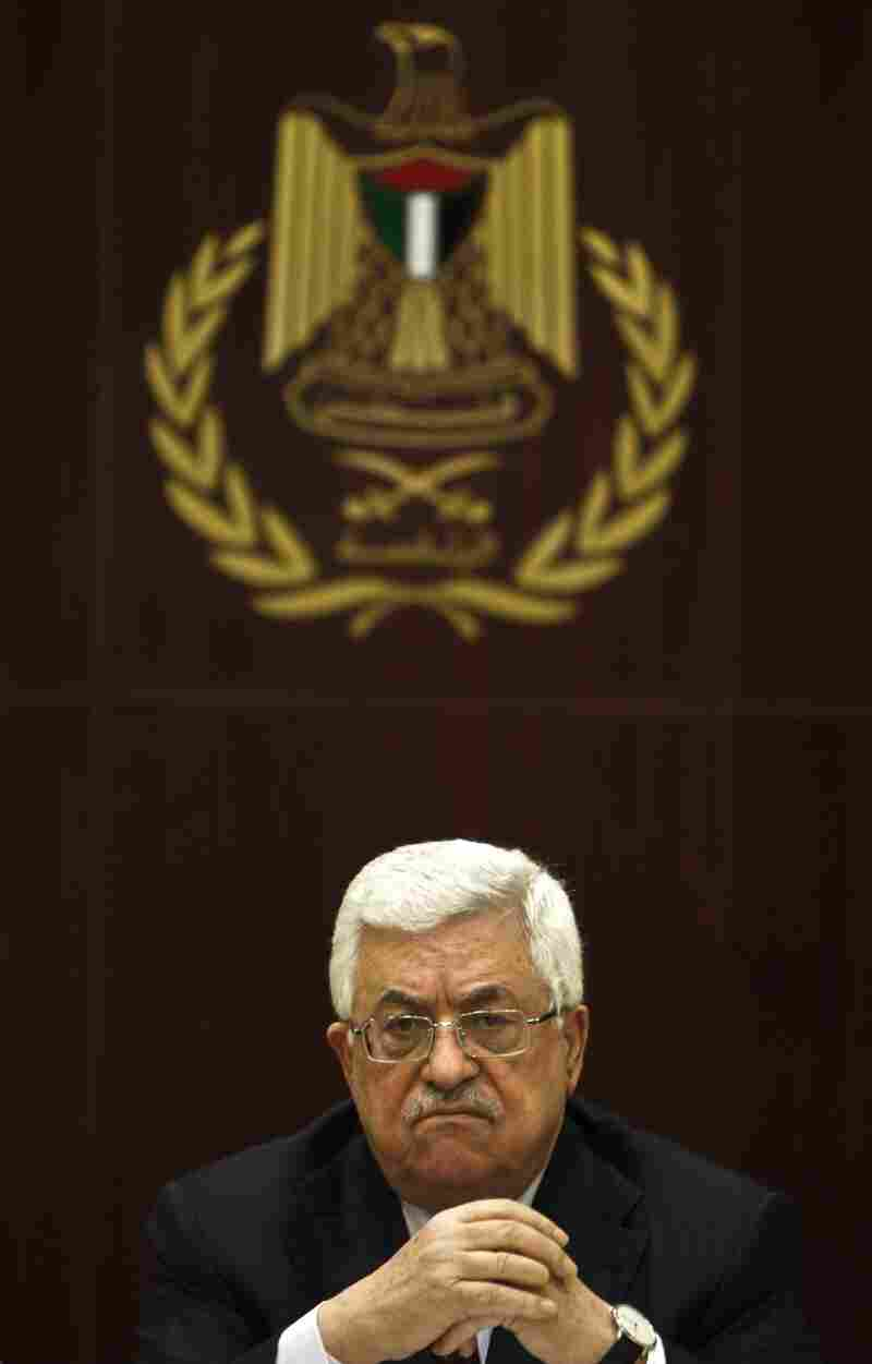 Abbas attends a meeting of his Fatah movement at its headquarters in Ramallah on Jan. 29.