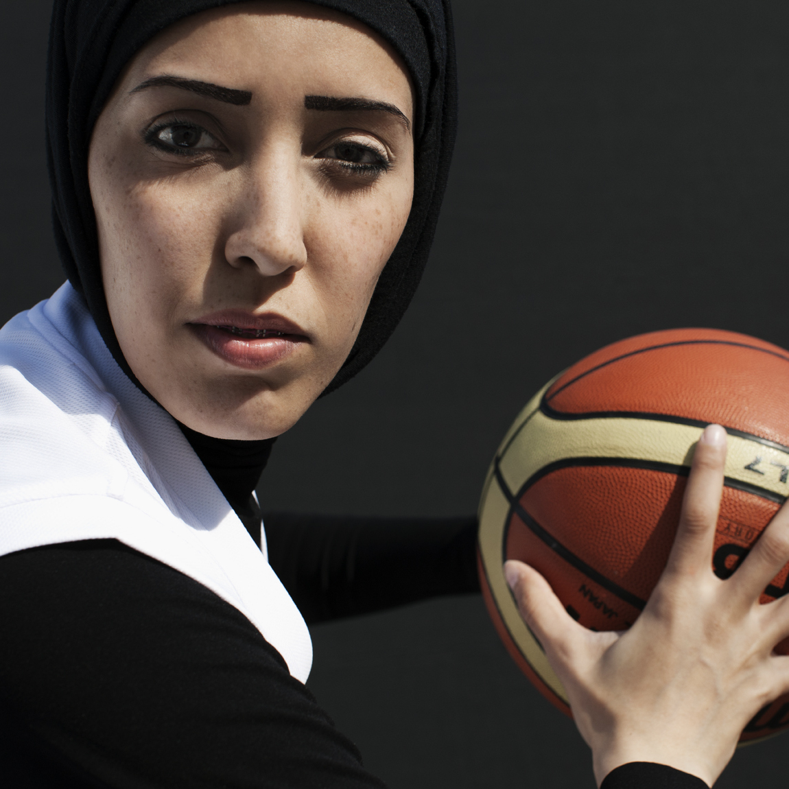 Qatari basketball player Amal Mohammad Awad