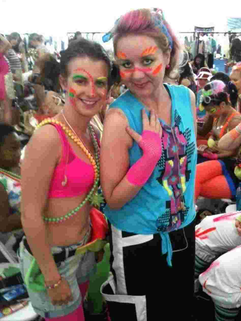 Sasha Feachem (right) will be performing in an urban street dance during the London Olympics' opening ceremony Friday.