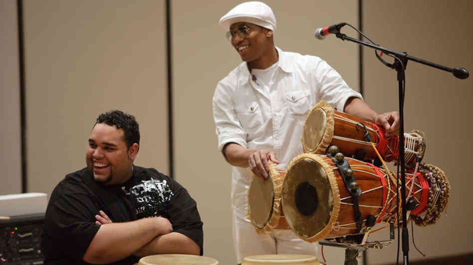 Pedro Martinez performs at Juilliard.