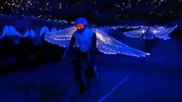 A scene from the London 2012 Opening Ceremony is seen in this screenshot, taken from a clip released Thursday. (YouTube)