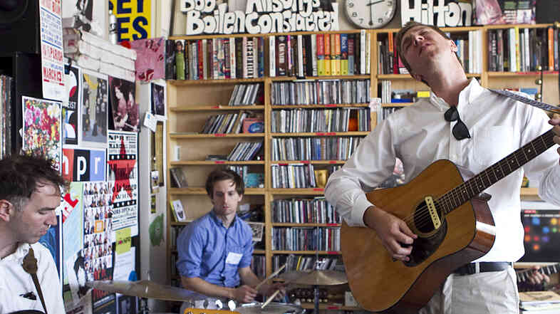 The Walkmen perform a Tiny Desk Concert at NPR headquarters in Washington, DC on Tues