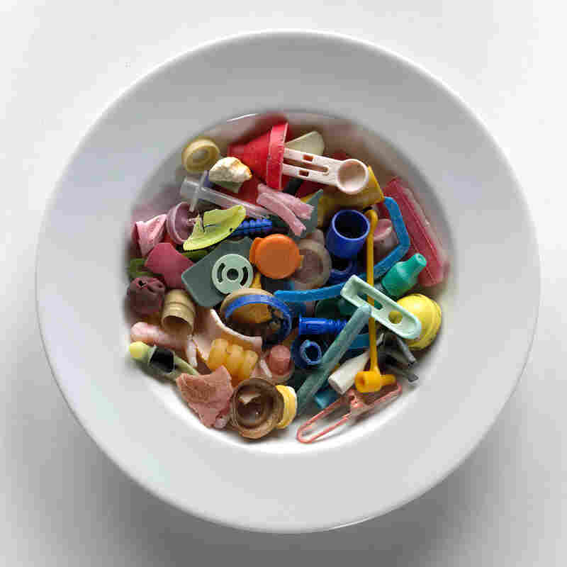 Judith and Richard Lang create art from plastic they find washed up on Kehoe Beach in California.