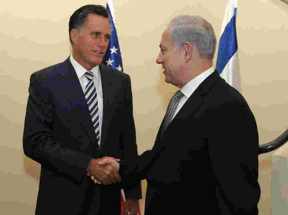 Mitt Romney meets Prime Minister Benjamin Netanyahu in Jerusalem on Jan. 13, 2011.