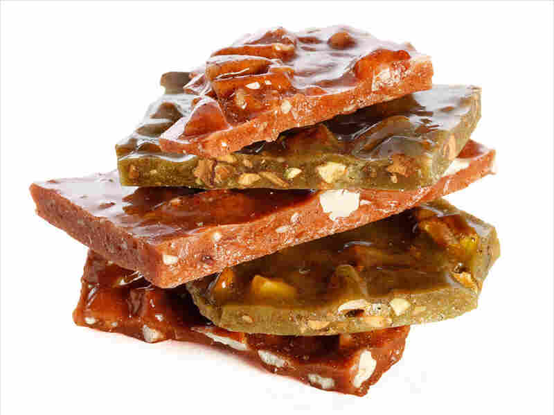 Nut brittles from the Las Cruces Candy Company are studded with pecans, pistachios and almonds, and infused with New Mexico's signature chili peppers — both green and red.