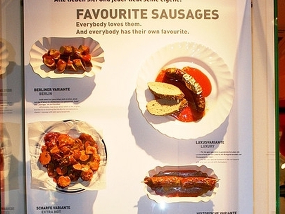 Berliners display their favorite sausages at the Currywurst Museum in Germany. (Flickr)