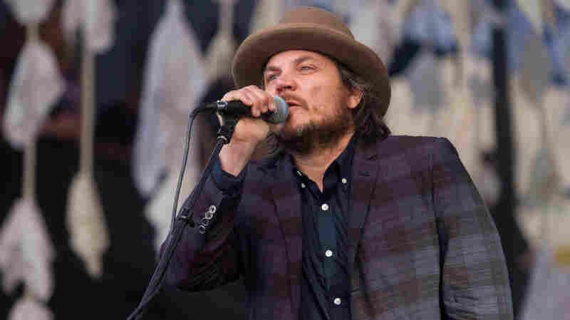 Jeff Tweedy of Wilco perfroms at the Newport Folk Festival.