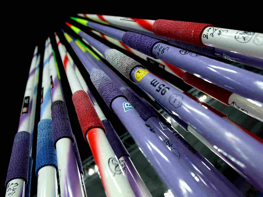 Detail of javelins during day eight of the 13th IAAF World Athletics Championships at Daegu Stadium on Sept. 3, 2011 in Daegu, South Korea.