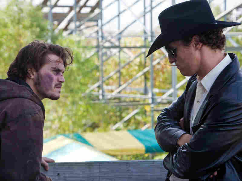 A Dallas hard-luck case  (Emile Hirsch, left) hires a corrupt cop (Matthew McConaughey) to kill his estranged mother when he hears about her rich insurance policy. Needless to say, the plot of Killer Joe doesn't quite work out as planned.