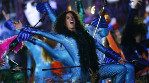 Performers dance during the Opening Ceremony at the 2012 Summer Olympics on July 27.