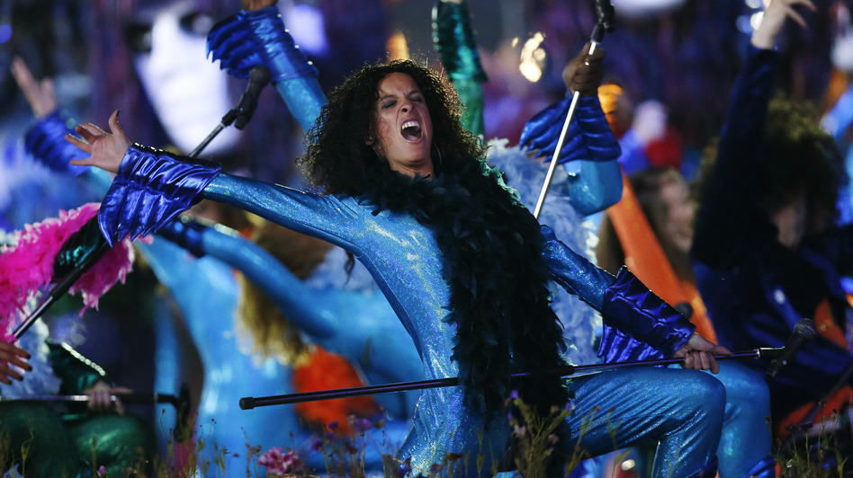 Performers dance during the Opening Ceremony at the 2012 Summer Olympics on July 27. (AP)