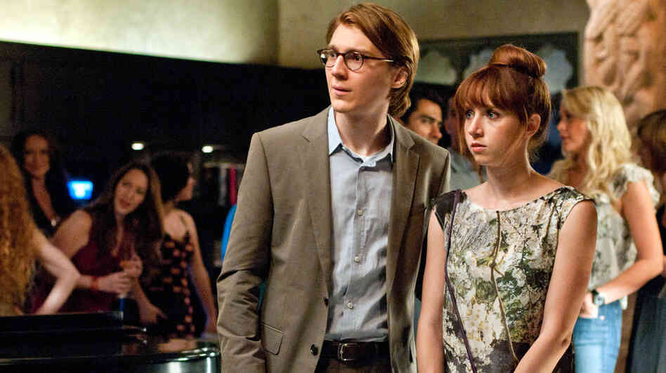 Calvin (Paul Dano) with the woman he manifested from his typewriter, Ruby Sparks (Zoe Kazan). Kazan also wrote the film Ruby Sparks, which is directed by th