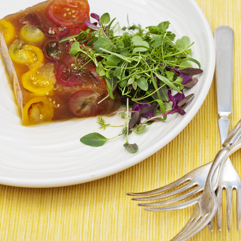 You won 39 t throw tomatoes at these recipes npr for Tomato terrine