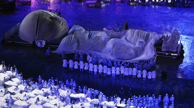 A scene from the Opening Ceremony of the London 2012 Olympics. The event was widely praised — but in the U.S., not all viewers were enthused. (Getty Images)