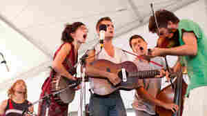 Spirit Family Reunion plays the Harbor Stage at the Newport Folk Festival July 28, 2012.