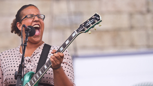 Brittany Howard of Alabama Shakes performs on the Fort Stage at the Newport Folk Festival.