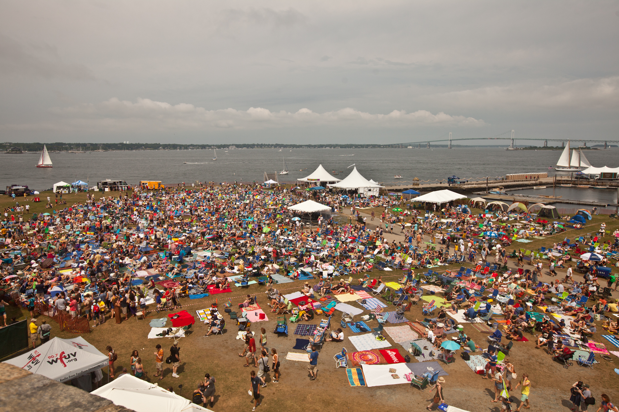 Over 10,000 people are gathered at the Newport Folk Festival this weekend.