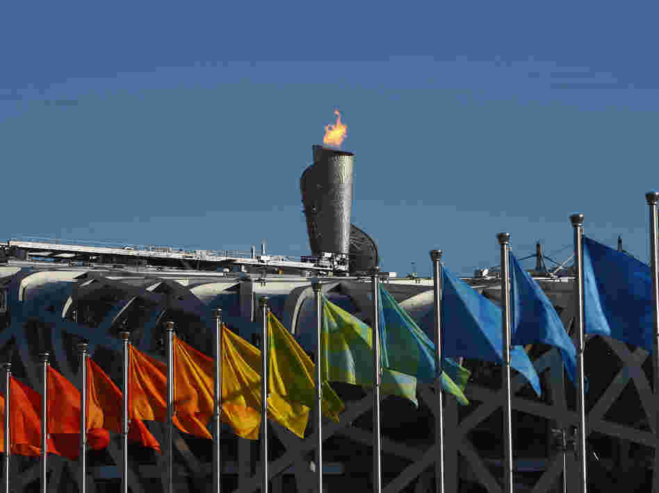 Beijing's Olympic flame was visible for miles from atop National Stadium during the 2008 games.