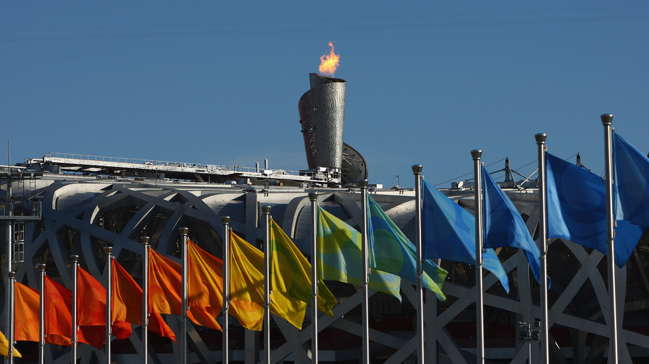 Beijing's Olympic flame was visible for miles from atop National Stadium during the 2008 games. (Getty Images)