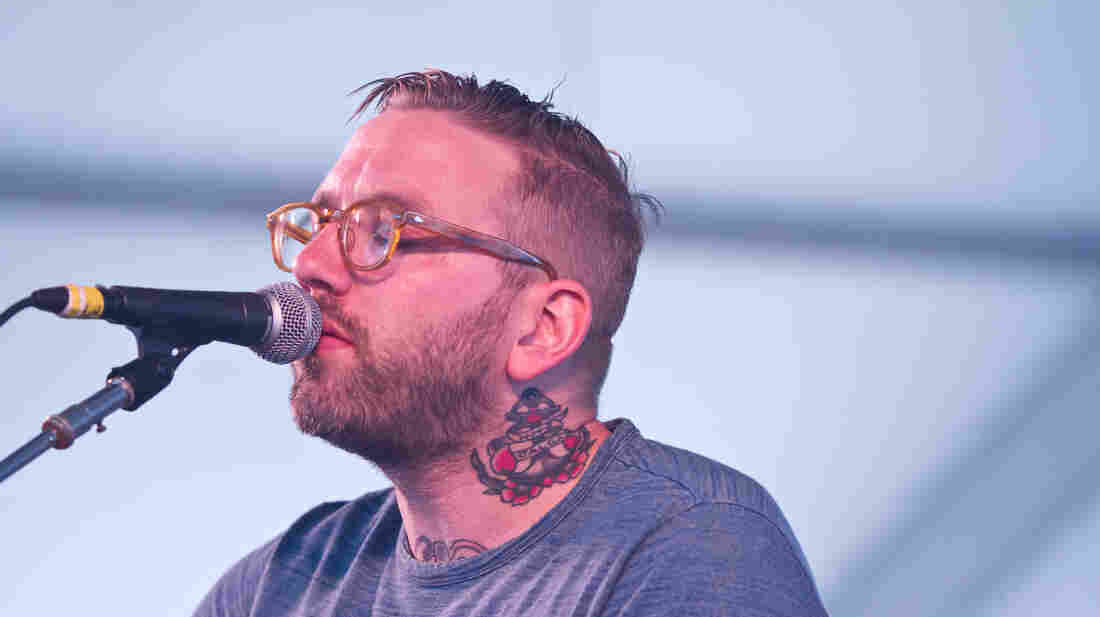 City and Colour performs on the Harbor Stage at the Newport Folk Festival.