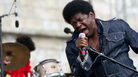 Charles Bradley and His Extraordinaires perform at the Fort Stage at the Newport Folk Festival.