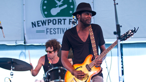Gary Clark Jr. plays the Quad Stage at the Newport Folk Festival.