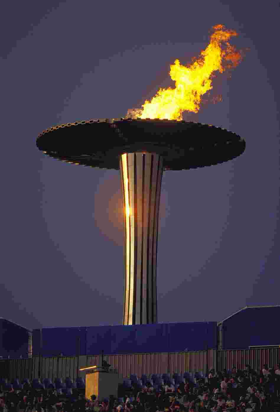 Sydney's Olympic Flame towered over the stadium during the 2000 games.