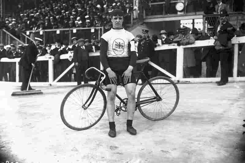 British cyclist Ben Jones, winner of the 5000 meter bike race.