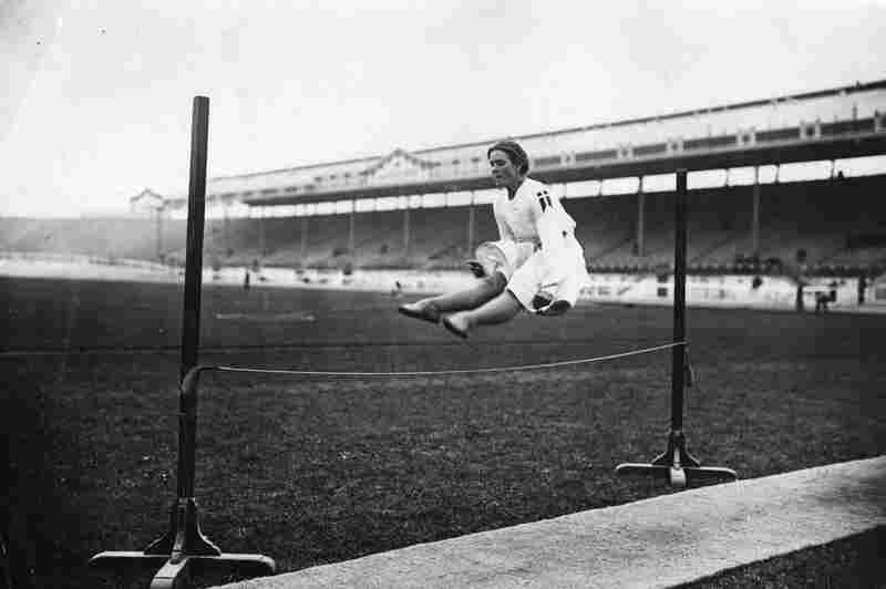 A Danish competitor at the high jump