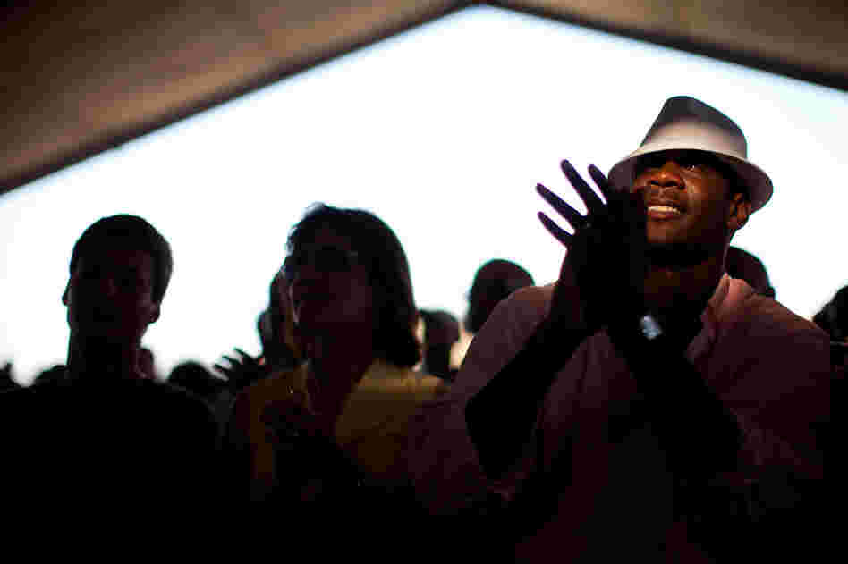 Fans at the 2010 Newport Jazz Festival.