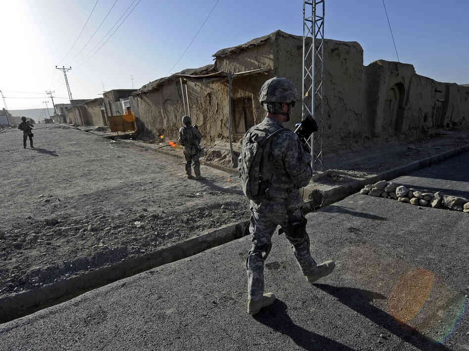 At a road project in Qalat, Afghanistan, last summer, U.S. forces were providing security.