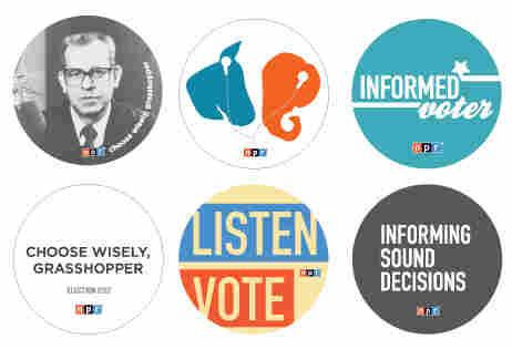NPR 2012 Election Buttons