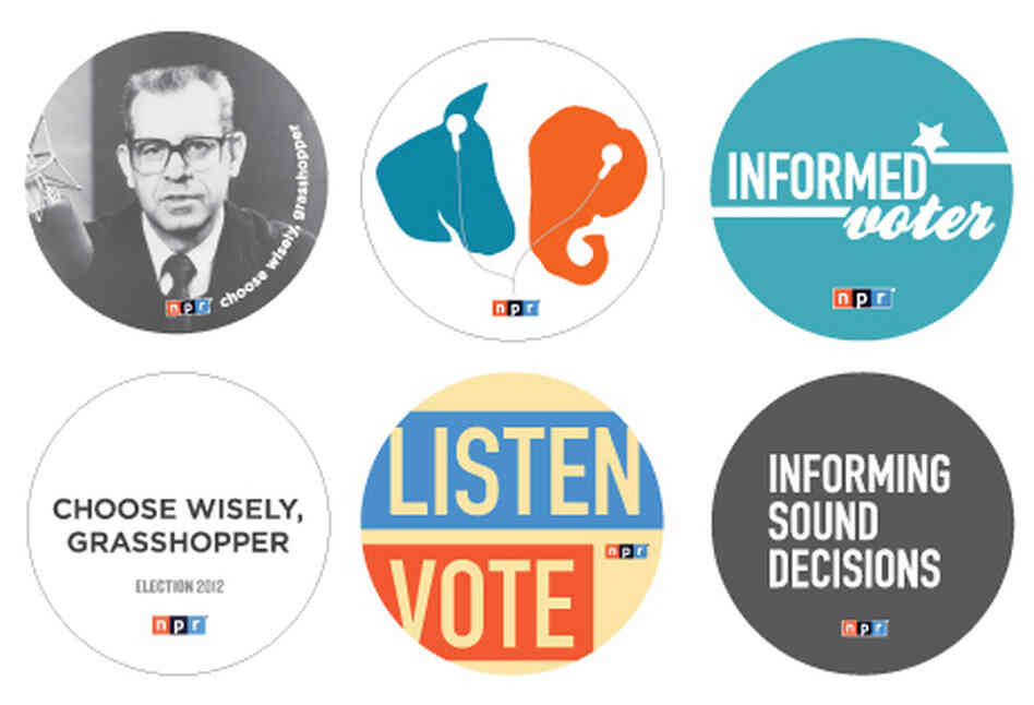 NPR 2012 Election Buttons
