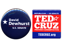 Dewhurst and Cruz buttons.