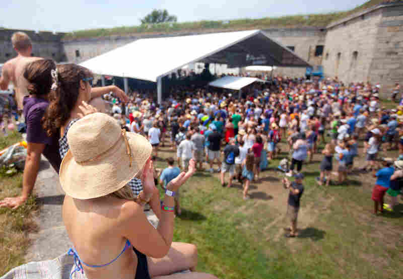 Getting some sun during Apache Relay's show at the Harbor Stage.