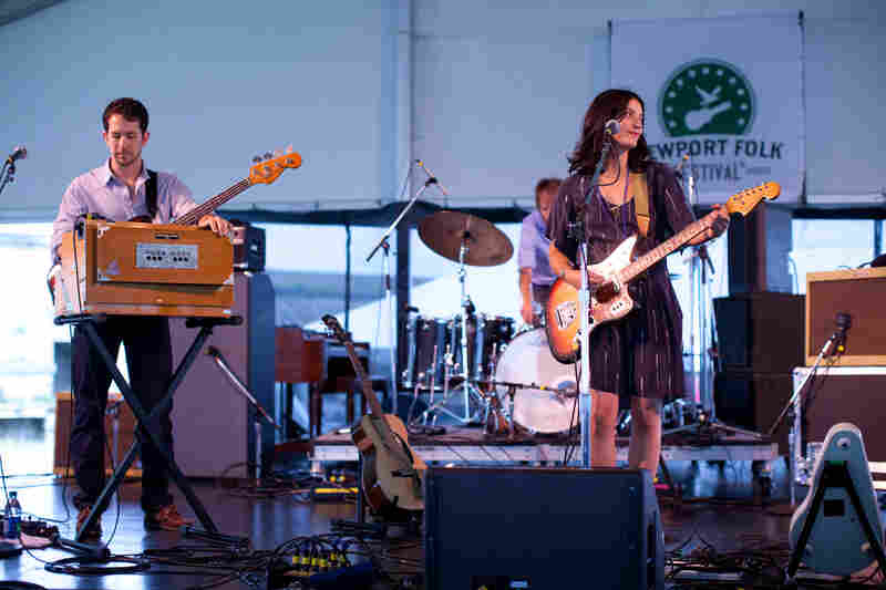 """""""This is a folk festival, right?"""" asked Sharon Van Etten in the middle of a raucous set."""