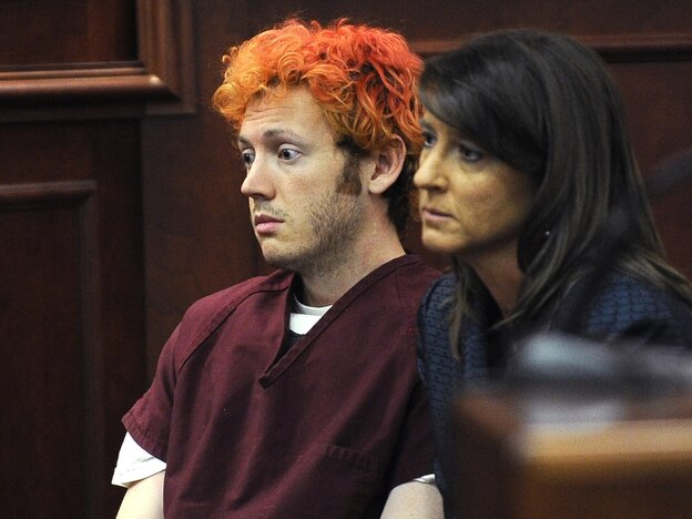 James Holmes, in an Arapahoe County, Colo., court on July 23.