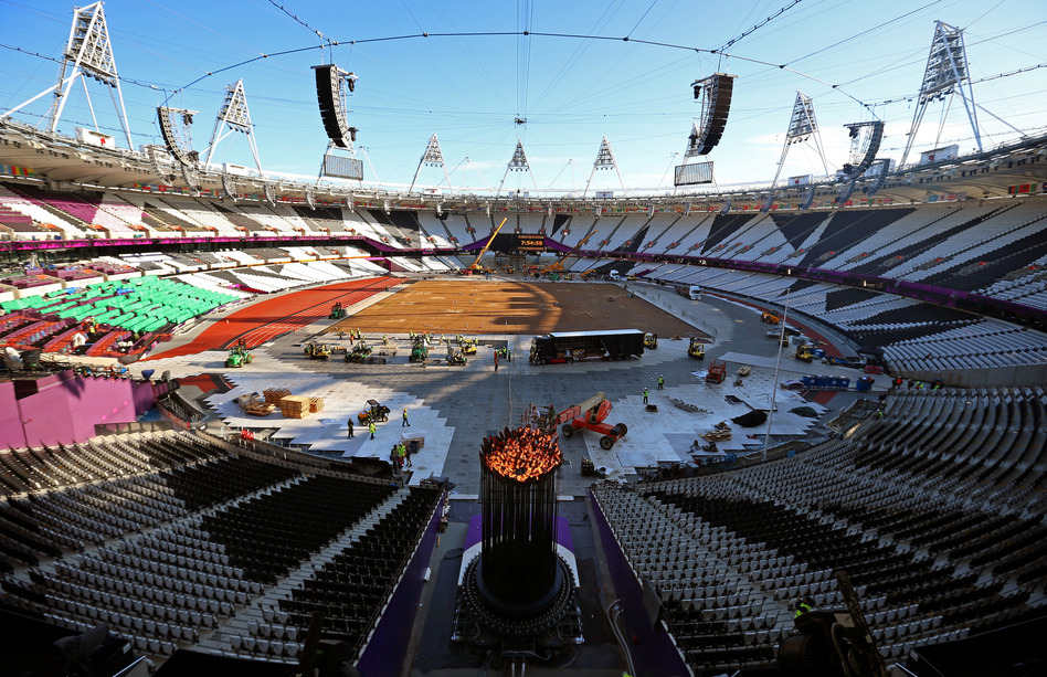 Olympic Cauldron Is Put Out, Then Relit, In London   WBUR News