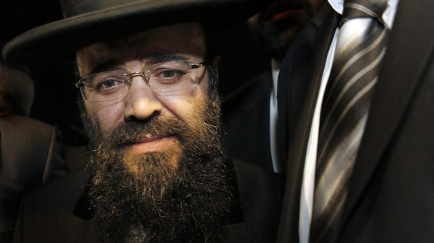 """Rabbi Yaacov Israel Ifargan is known as the 'X-ray' rabbi for what his followers say is his ability to """"see right through"""" a person. According to Forbes in Israel, he is worth about $23 million, which makes him the country's sixth-richest rabbi. (AP)"""