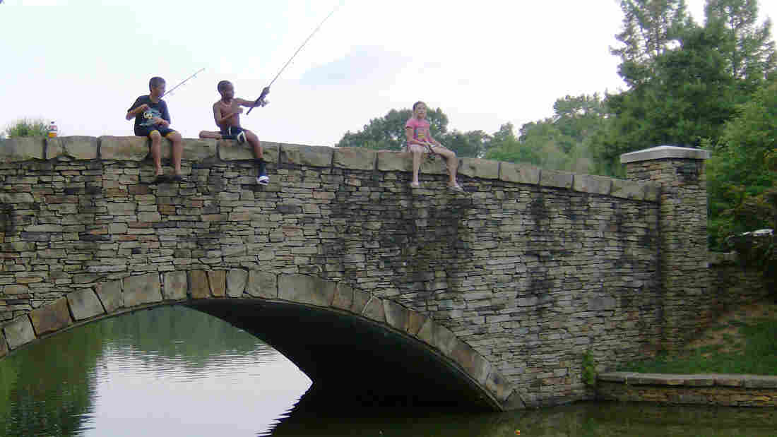 A pond in Charlotte, N.C.'s Freedom Park is a popular spot for evening fishing. The city keeps the pond well-stocked with catfish.