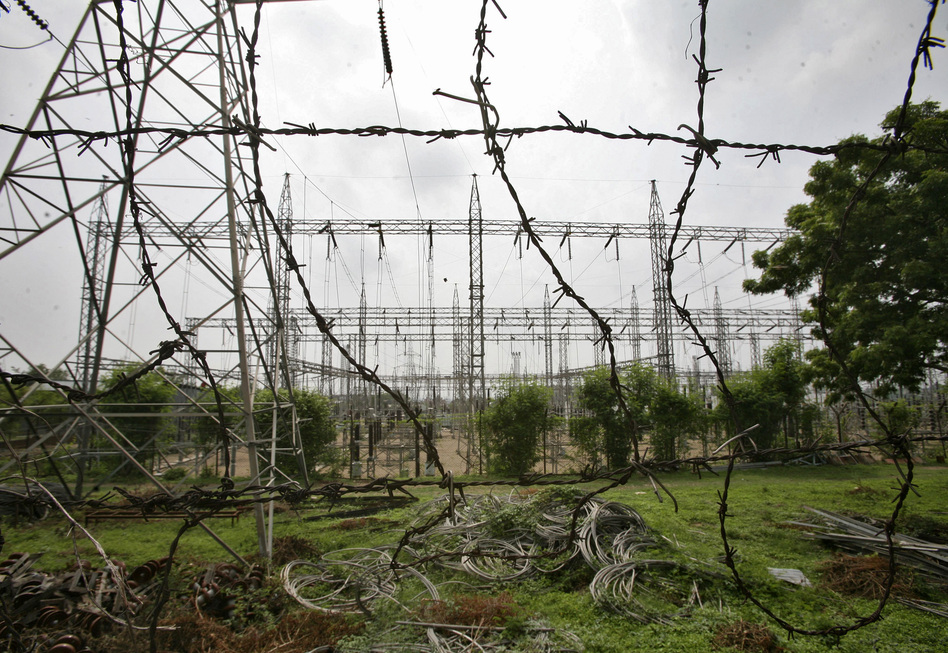 An electric power station on the outskirts of Jammu. Experts say demand for power outstrips supply in India. (Reuters /Landov)