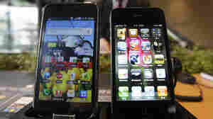 Samsung Galaxy S (left) and Apple's iPhone 4