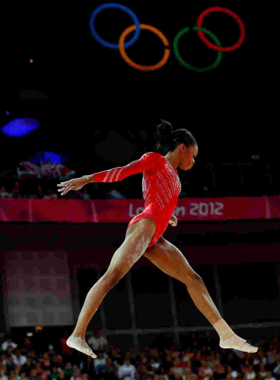 Young Skywalker: Gabby Douglas helped solidify the U.S. women's team grip on gymnastics gold. The Americans beat Russia and Romania.