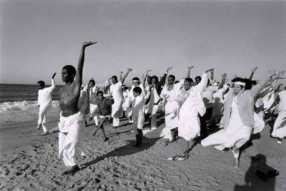 Community Baptism, Baba Ishangi Leads Exercise, 1986